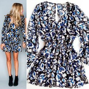 Show Me Your Mumu Rainey Dress In Cheetah Azul